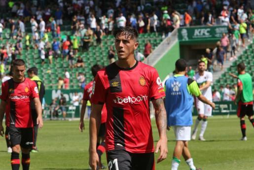 Antonio Raíllo, defensa del Mallorca, tras el partido contra el Elche en el Martínez Valero.