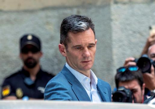 Iñaki Urdangarin a su salida de la Audiencia de Palma.
