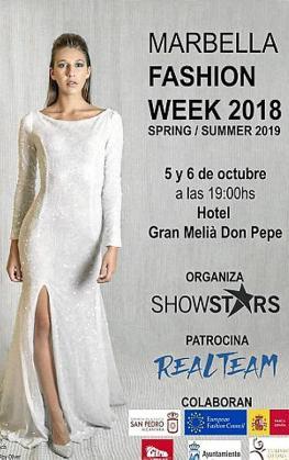 La modelo es la imagen del cartel de Marbella Fashion Week 2018.