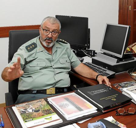 Jaume Barceló, coronel jefe de la Guardia Civil.