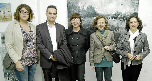 Maria del Carmen Oses, Xavier Ramis, Francina Armengol, Antonia Sabater y Marixé Fernández.