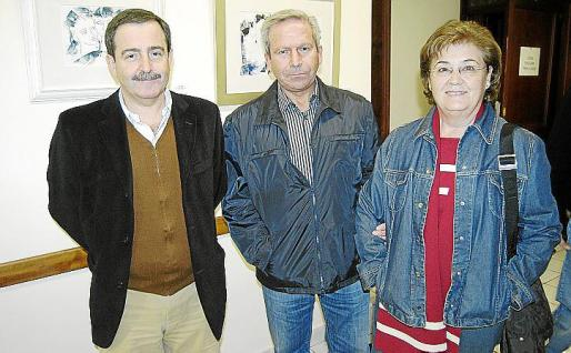 Antonio Corral, Guillem Llull y Margalida Galmés.