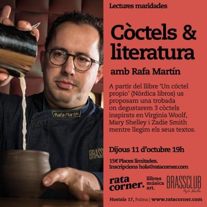 Rafa Martín es el encargado de dirigir 'Còctels & literatura'.