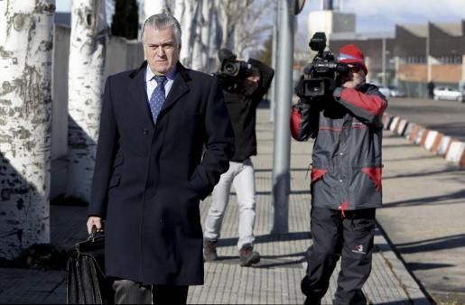 El extesorero del PP Luis Bárcenas, a su salida de la sede de la Audiencia Nacional.