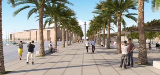 Imagen del paseo previsto en el proyect 'Rambla de Mar'.