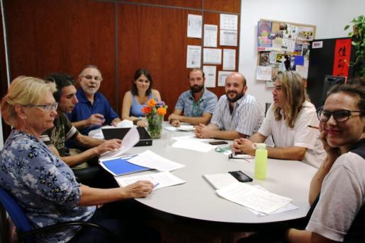 Imagen de la reunión mantenida este miércoles en Cort.