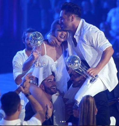 David Bustamante, junto con la rusa afincada en Felanitx, Yana Olina, en el programa de televisión 'Bailando con las estrellas'.