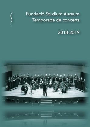 Cartel de la temporada de conciertos de la Fundació Studium Aureum.