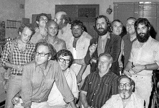 Foto de una de las primeras reuniones del Grup Dimecres en Manacor.