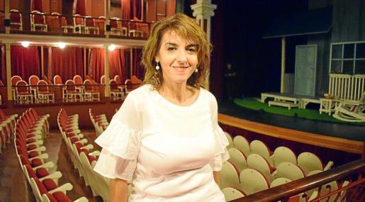 Llum Barrera, en el Teatro Cervantes de Alcalá de Henares, donde actuó con la obra que traerá a Palma.
