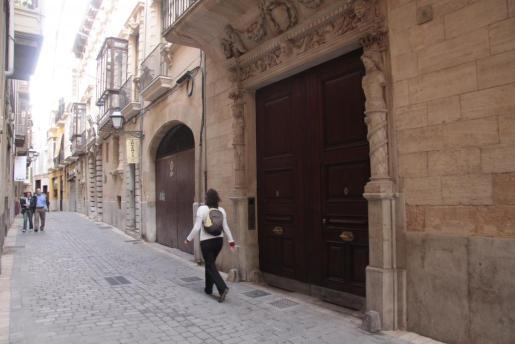 Imagen de la fachada del palacete de Matas.