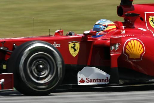 El piloto español Fernando Alonso, de Ferrari, durante una de las carreras del circuito de este año.