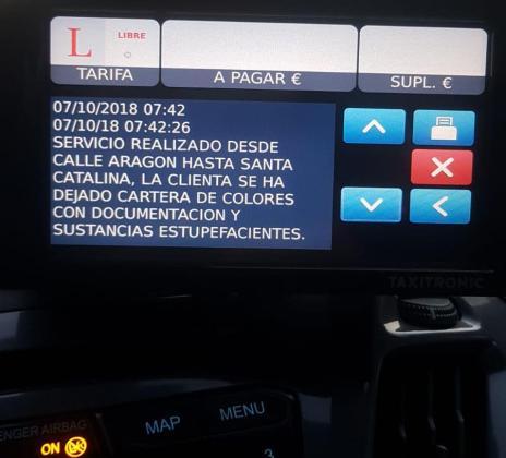 Mensaje enviado a todos los taxistas de la compañía.