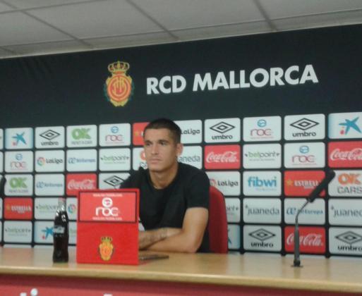 Marc Pedraza, durante la rueda de prensa que ha ofrecido en la Ciudad Deportiva Antonio Asensio.