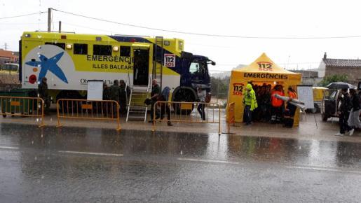 Imagen de la lluvia caída este miércoles en Sant Llorenç.