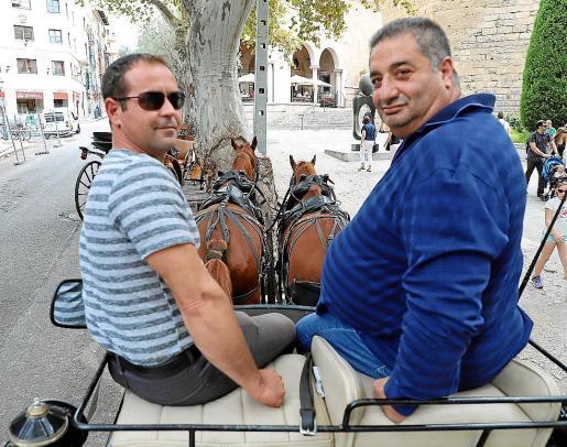 Sion y Manolo llevan toda su vida profesional como conductores de calesas, paseando a miles de turistas y famosos por las céntricas calles de Palma.
