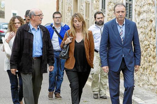 Cerdà, a la izquierda, junto a los fiscales Ana Lamas y Miguel Ángel Subirán.