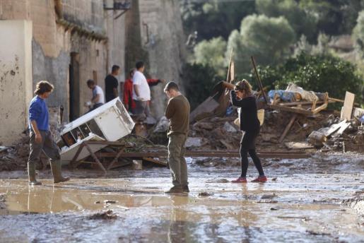 Desoladora imagen de una zona de Sant Llorenç afectada por la riada.