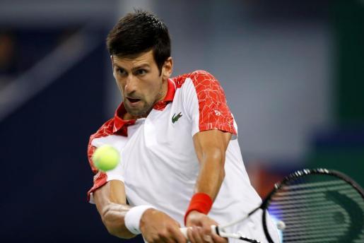 Novak Djokovic durante el Master de Shangai.