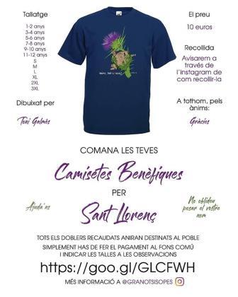 Imagen de la camiseta solidaria diseñada por Toni Galmés.