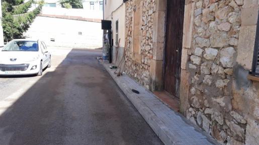 Una de las calles, ya recuperadas de Sant llorenç.