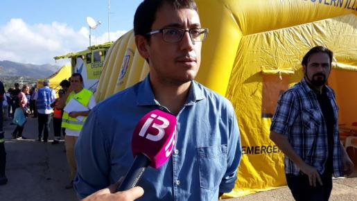 Iago Negueruela, este sábado en Sant llorenç.