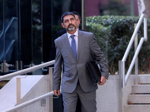 El que fuera máximo responsable de los Mossos en una de las comparecencias ante la Audiencia Nacional.