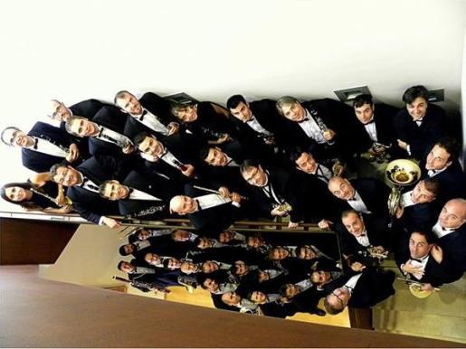 Los miembros de la Banda Municipal de Música de Palma durante la Temporada 2018-2019.