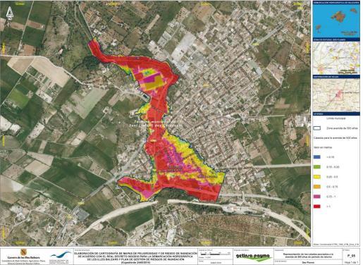 Ficha de la riada máxima posible en Sant Llorenc. La del día 9 superó los datos.