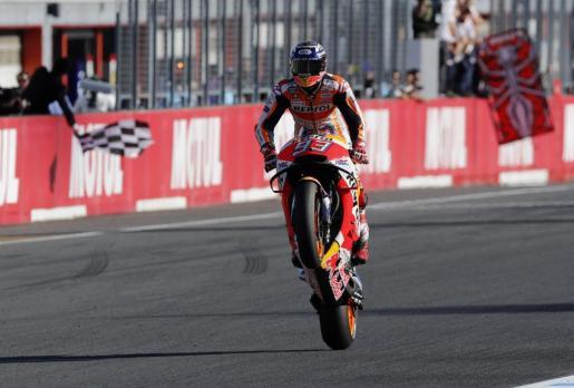 Marc Márquez gana en Motegi y se proclama campeón del mundo por séptima véz