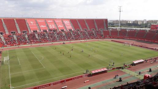 Imagen del estadio de Son Moix durante el Mallorca-Extremadura.