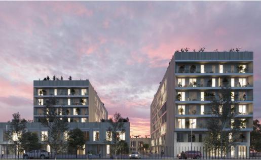 El complejo residencial Jardins de Llevant aúna sencillez y estilismo.