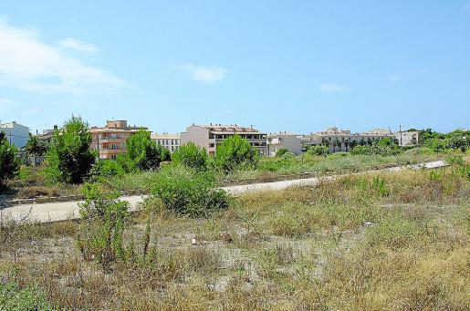 Imagen de las parcelas de ses Figueretes, en la parte posterior del núcleo urbano.
