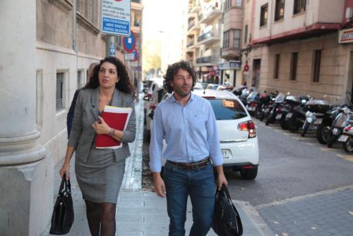 Jaume Garau, a su llegada a los juzgados de Palma.