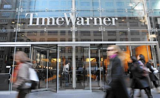 Fachada del edificio de Time Warner en Nueva York.