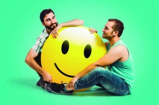 Héctor Seoane y Joan Toni Sunyer protagonizan la obra 'Smiley (una història d'amior)'.