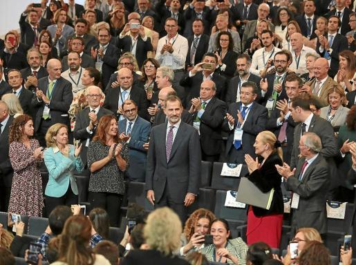 El Rey clausuró el XVII Congreso de Directivos de la CEDE en el Palacio de Congresos de Palma.