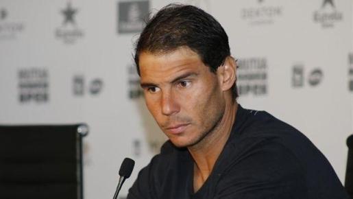 Imagen de Rafael Nadal durante una rueda de prensa.