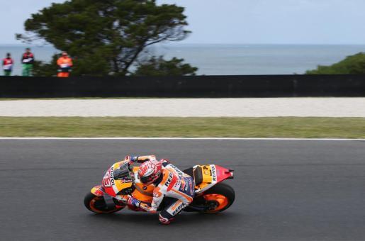 El español Marc Márquez, durante los entrenamientos del Gran Premio de Australia de MotoGP.