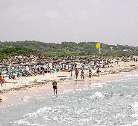 Imagen de la primera linea de sa Ràpita, una zona que ha sobrevivido a la masificación.