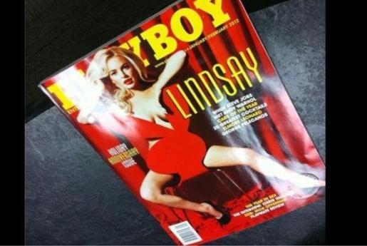 Portada de la revista Playboy con la actriz Lindsay Lohan.