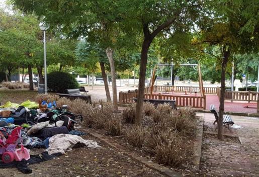 Parque degradado y peligroso para los niños