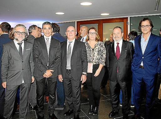 Manuel Granero, Pedro Payeras, Francisco Jaume Orell, Marta Mesquida, Vicenç Rotger y Frederic Mudoy.