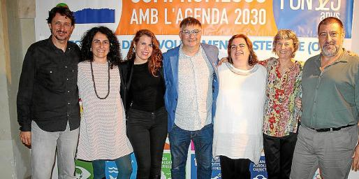 Tomeu Taberner, Francesca Campana, Bàrbara Marqués, Joan Verger, Antònia Rosselló, Susana Subias y Jesús Jurado.