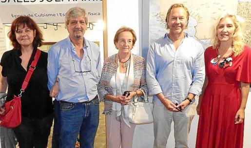 Montse Querol, Carlos Quintana, Maria Francisca Pizá, Dieter Kloubert y Aina Pastor.