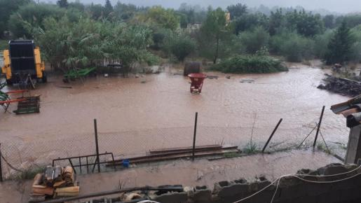 Imagen de una de las fincas dañadas por las inundaciones.