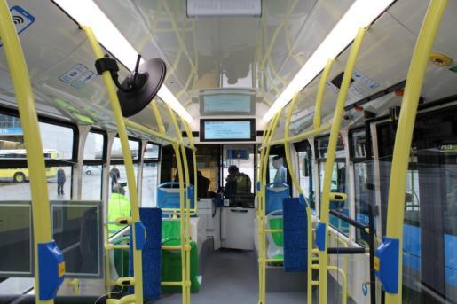 Imagen de archivo del interior de un autobús de la EMT de Madrid.