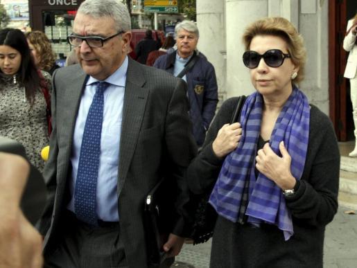 Maria Antònia Munar, a su salida de los juzgados de Via Alemania.