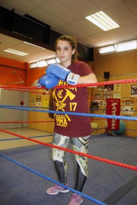 La boxeadora Alba Ortiz.