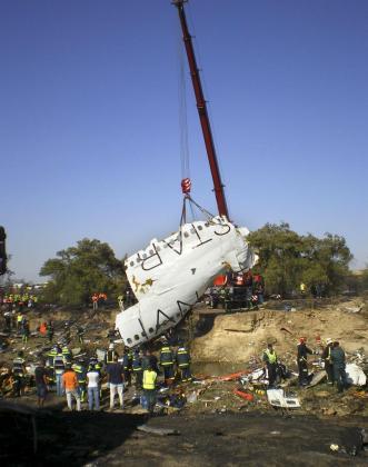 Imagen del accidente ocurrido el 21 de agosto en el aeropuerto de Barajas.